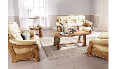 Max Winzer® Polstergarnitur »Texas«, mit dekorativem Holzgestell, 2-tlg. kaufen