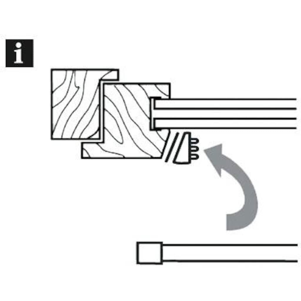 GARDINIA Klemmstange »Klemmstange mit Ausgleichskeil«, 1 läufig-läufig, ausdrehbar, (2-St)