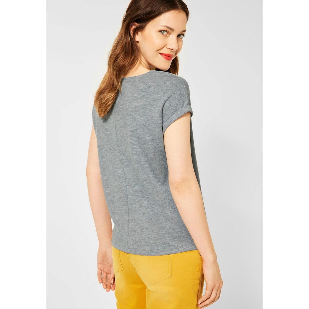 STREET ONE V-Shirt, mit überschnittenen Schultern