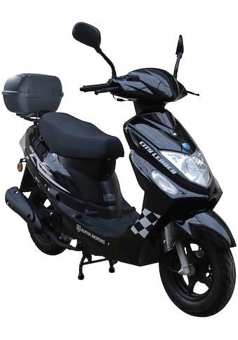 Alpha Motors Motorroller »Cityleader«, 2,5 PS, 50 ccm, 45 km/h, schwarz inkl. Topcase kaufen