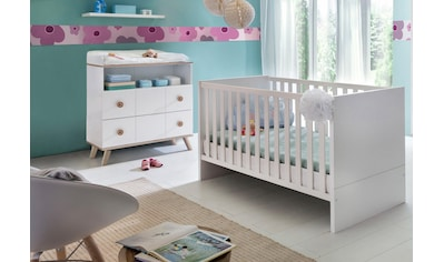 Babymöbel-Set »Cannes«, (Spar-Set, 2 tlg.), Bett + Wickelkommode kaufen