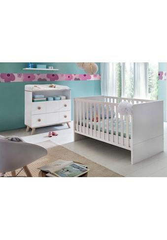 Babymöbel-Set »Cannes«, (Spar-Set, 2 St.), Bett + Wickelkommode kaufen