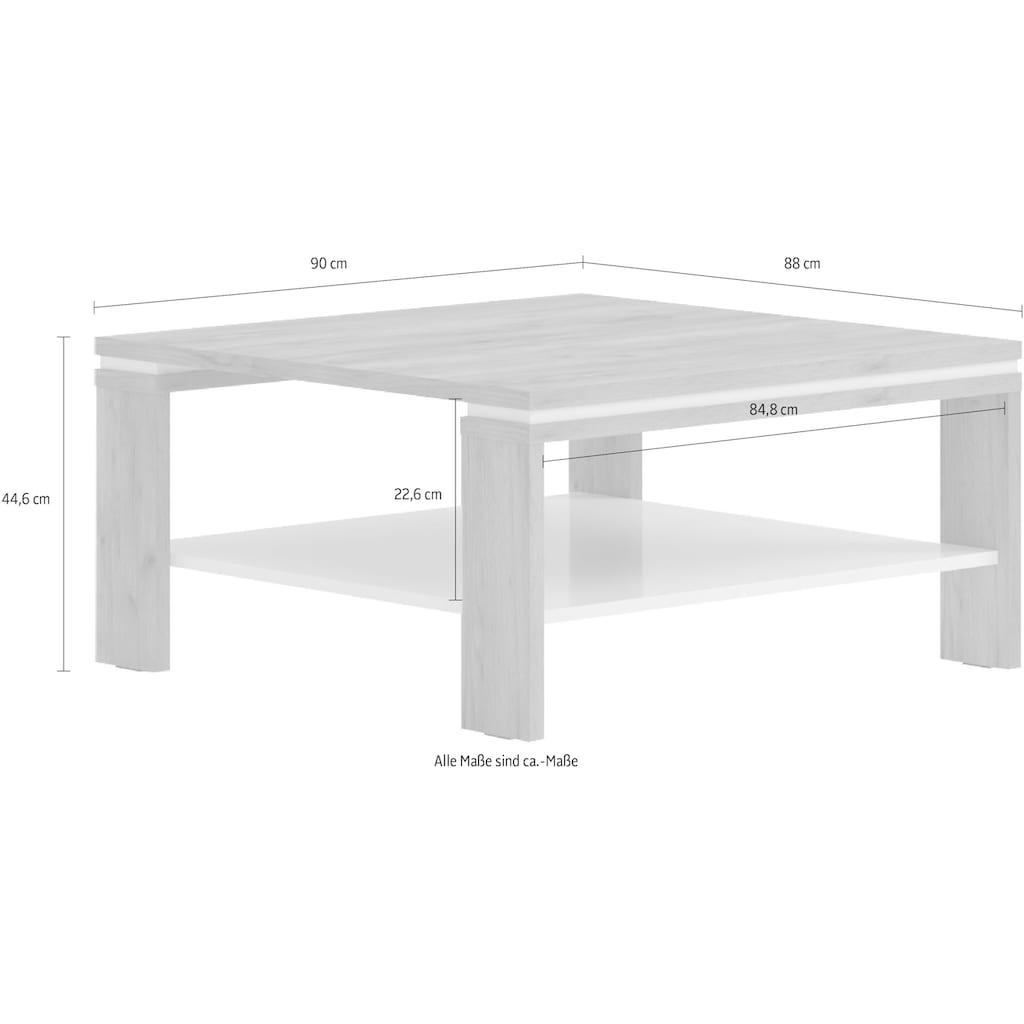 Places of Style Couchtisch »Stela«, mit Ablageboden UV-lackiert weiß Hochglanz