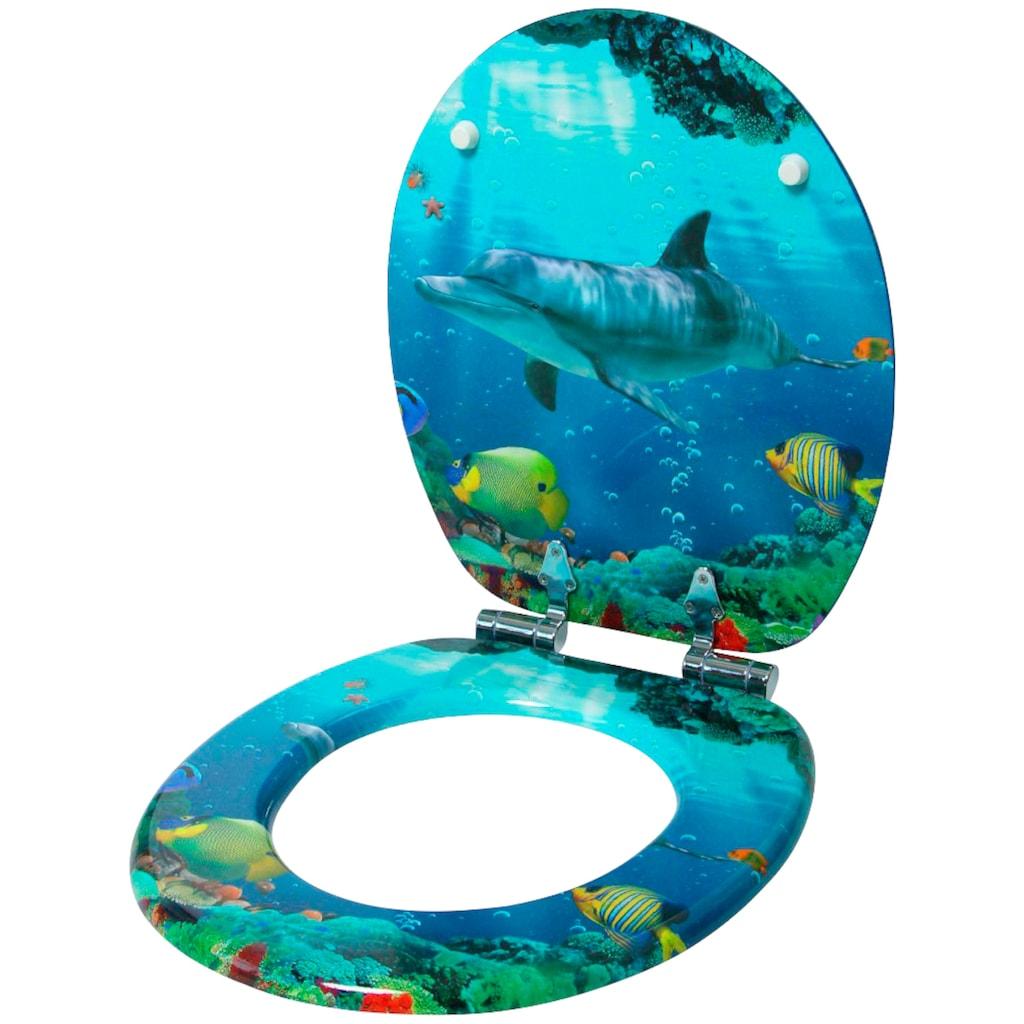 Sanilo WC-Sitz »Delphin Korallen«