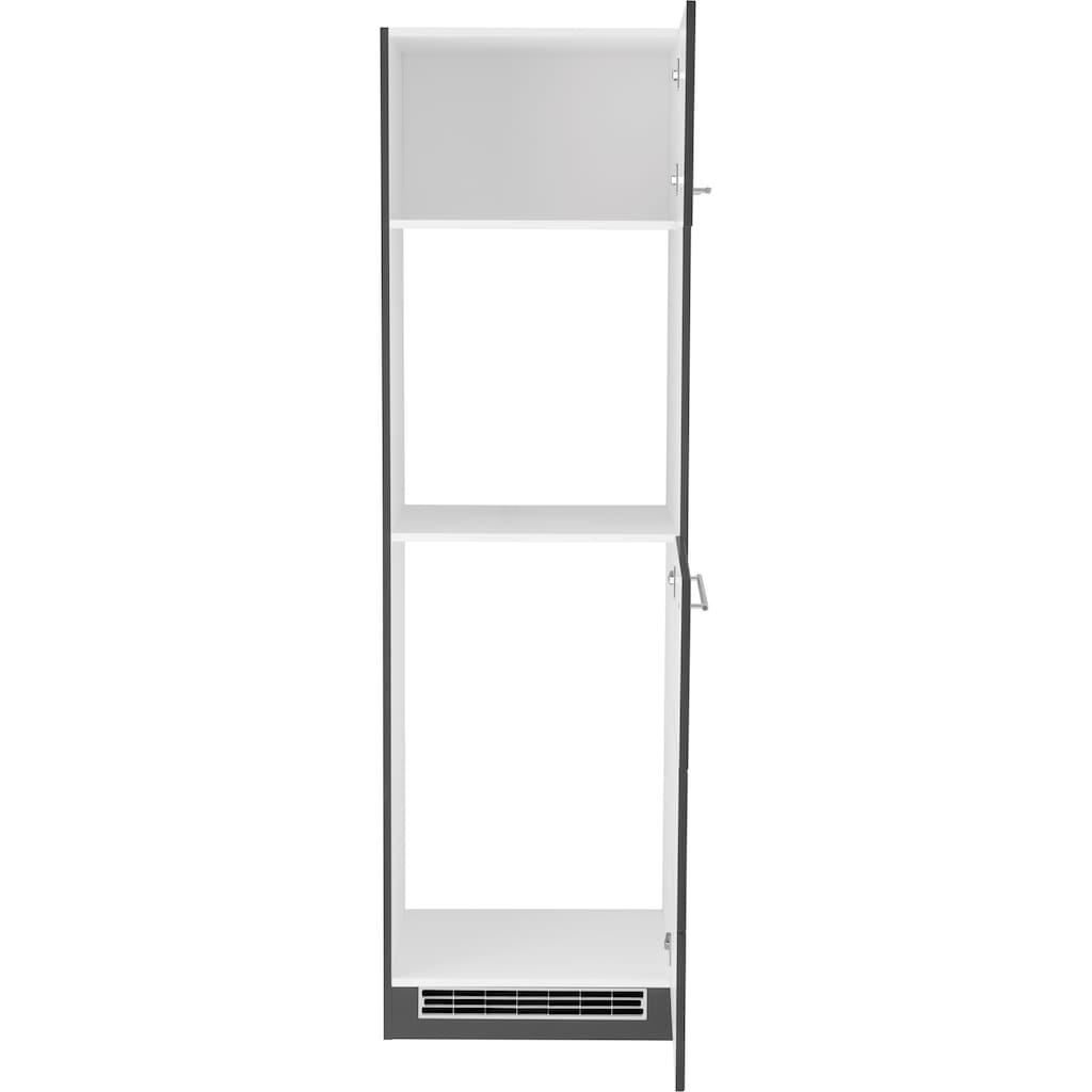 HELD MÖBEL Backofen/Kühlumbauschrank, 60 cm breit, für autarken Backofen und Einbaukühlschrank
