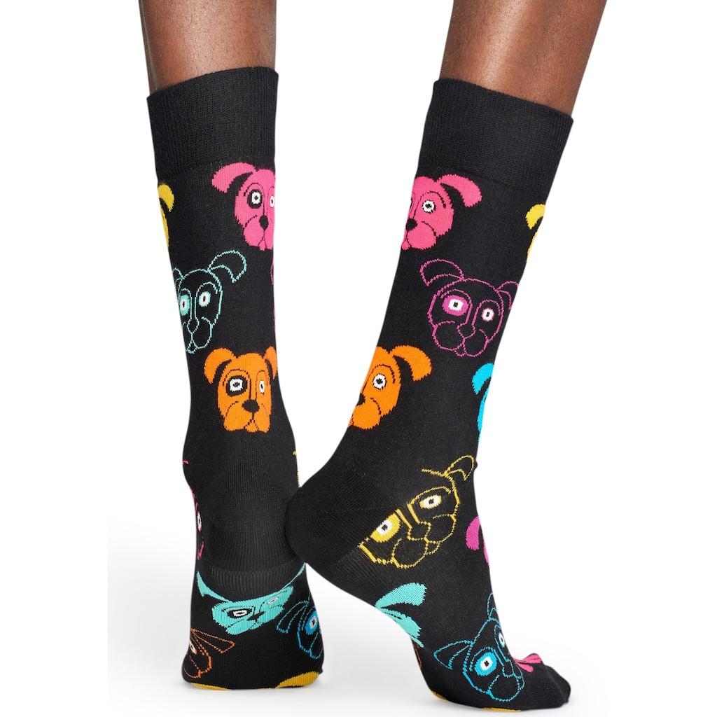 Happy Socks Socken »Dog«, mit bunten Hundegesichtern