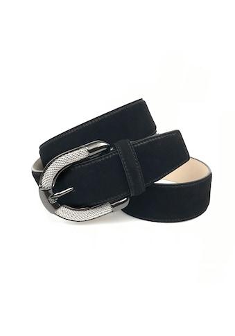 Anthoni Crown Ledergürtel, Veloursledergürtel in schwarz kaufen