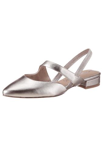 Tamaris Slingpumps »MALOU«, im schönen Metallic-Look kaufen
