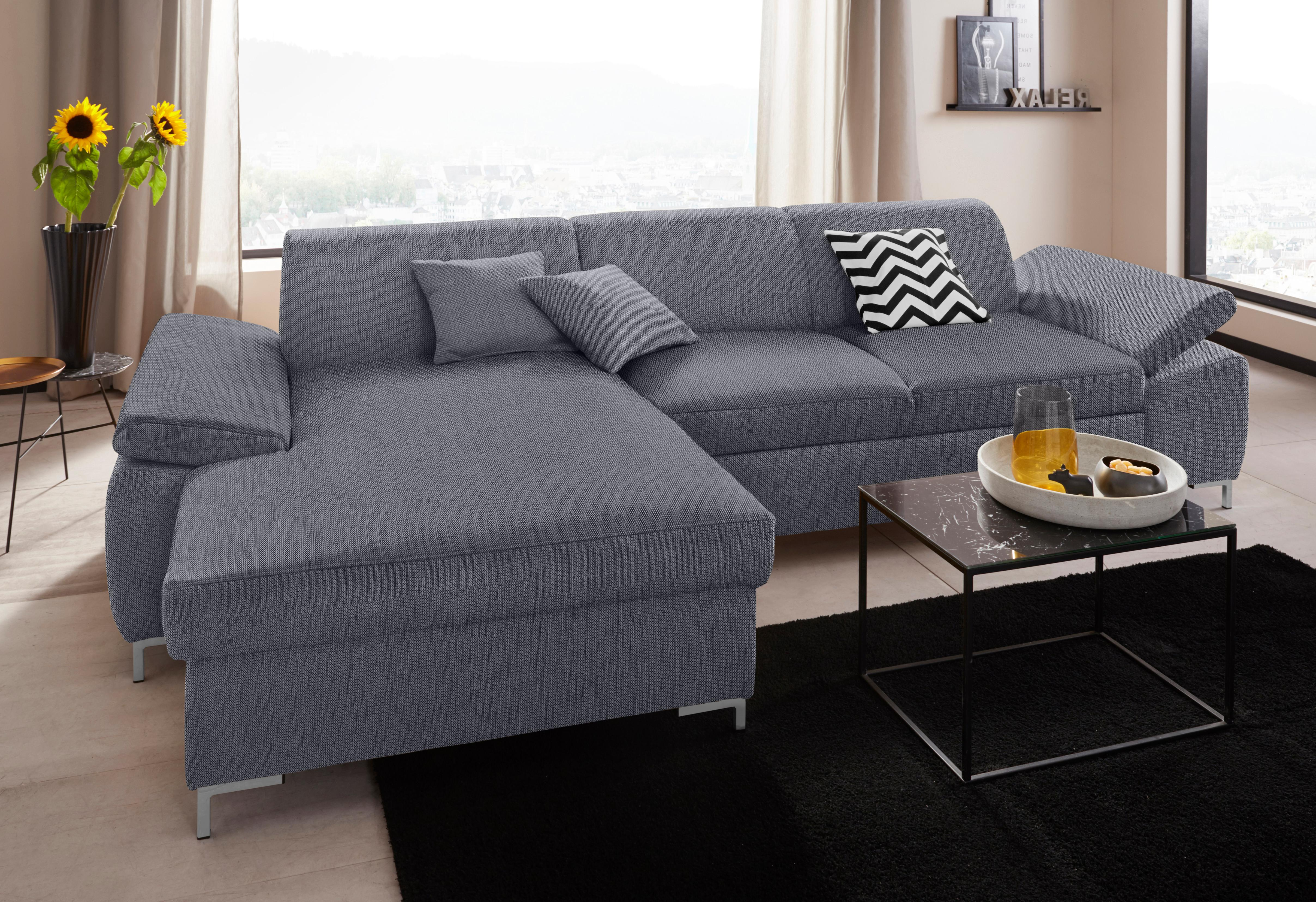 DOMO collection Ecksofa | Wohnzimmer > Sofas & Couches > Ecksofas & Eckcouches | Grau | Domo Collection