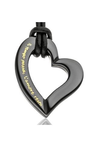 Gilardy Anhänger mit Kette »Keramik Herz Black« kaufen