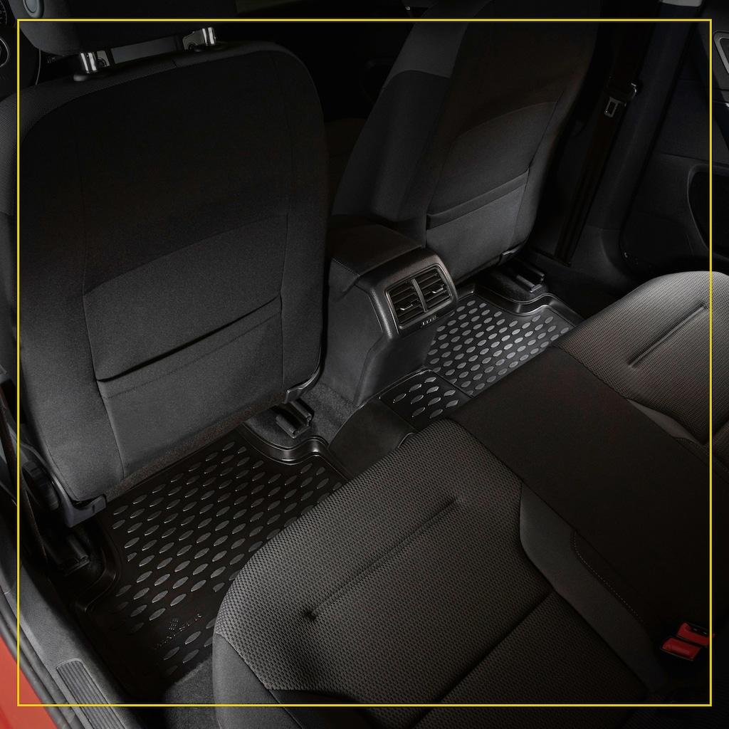 WALSER Passform-Fußmatten »XTR«, (4 St.), für Fiat 500 Bj 07/2007 - Facelift 2016, Fiat 500C Cabriolet Bj 09/2009 - Heute