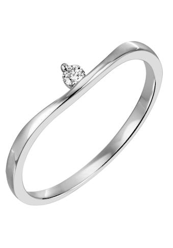 Firetti Diamantring »Solitär, modern, Krappenfassung, Glanz, massiv«, mit Brillant kaufen