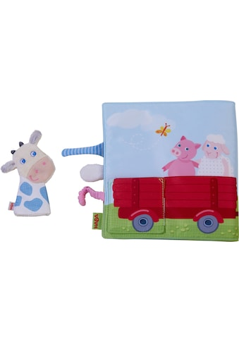 Haba Greifspielzeug »Stoffbuch Bauernhof«, mit Kuh-Fingerpuppe kaufen