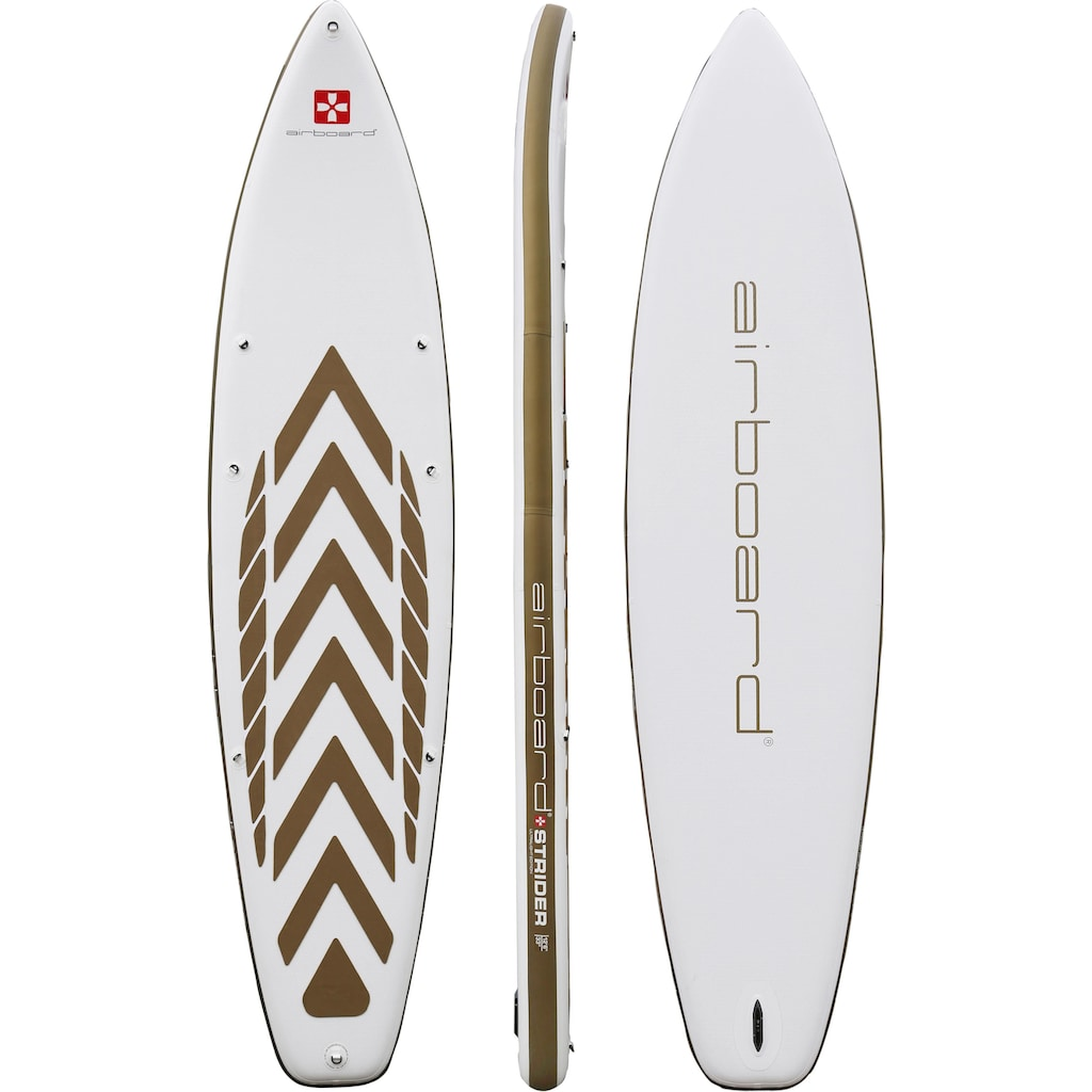 Airboard Inflatable SUP-Board »Airboard STRIDER Gold Large«, (Set, 5 tlg.)