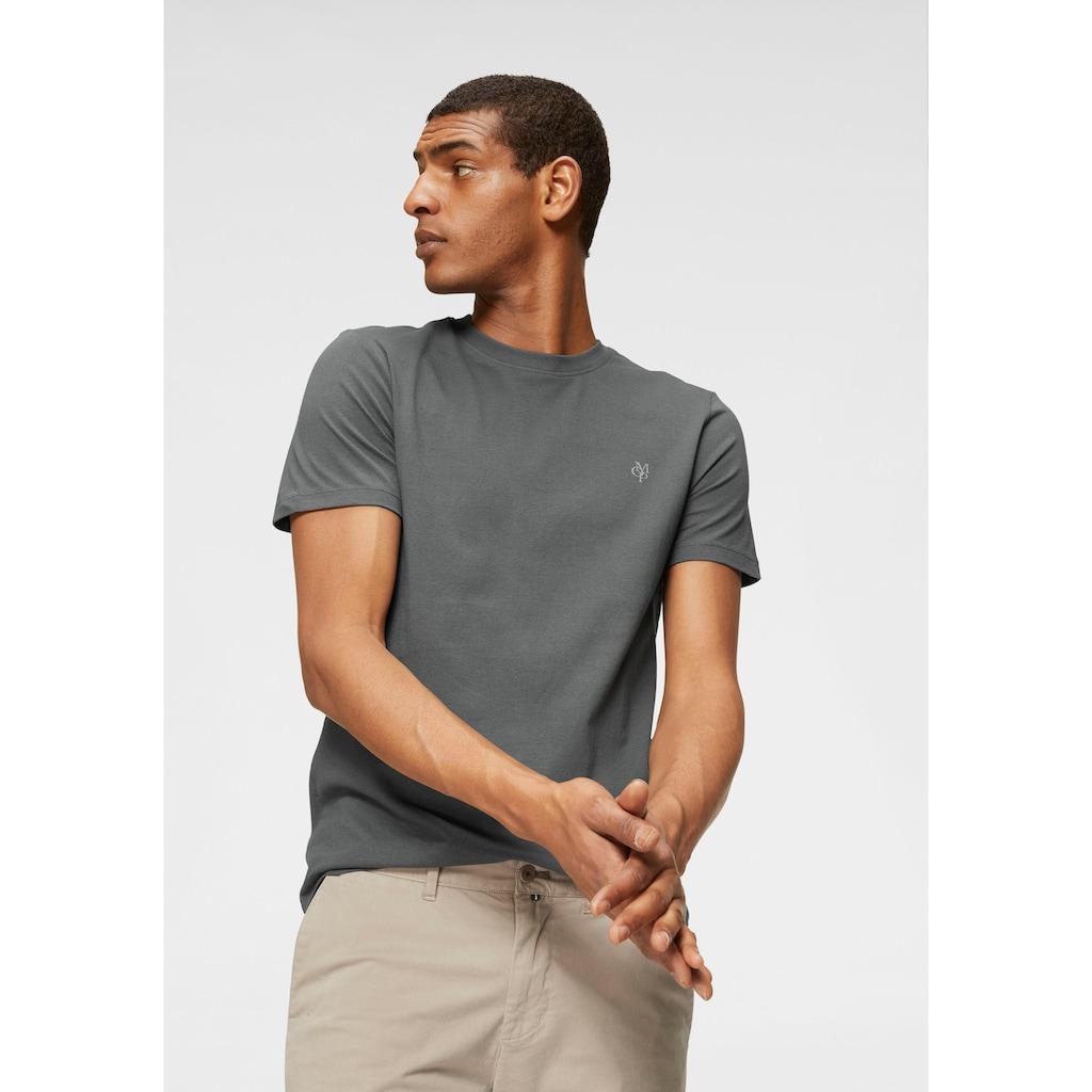 Marc O'Polo T-Shirt, Ideal zum Unterziehen, Rundhalsausschnitt