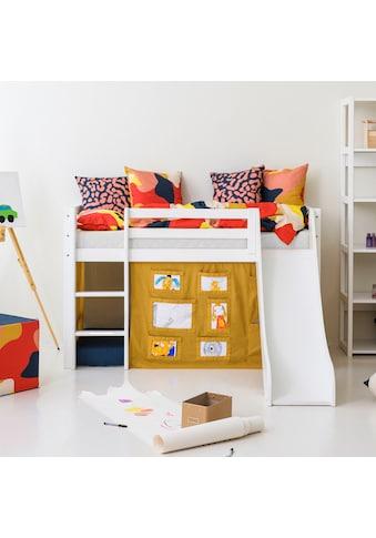 Hoppekids Hochbett »Creator«, mit Rutsche, Vorhang und wahlweise Matratze kaufen