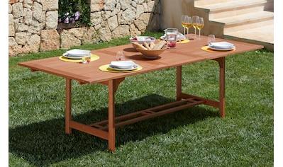 MERXX Gartentisch »Maracaibo«, Eukalyptusholz, ausziehbar, 230x100 cm, braun kaufen