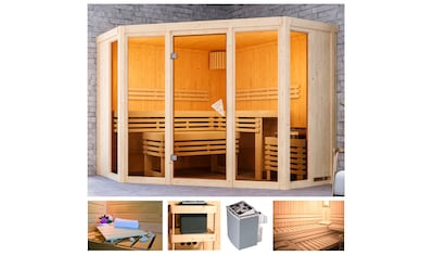 KARIBU Sauna »Akiko 2«, 231x231x198 cm, 9 kW Ofen mit int. Steuerung kaufen