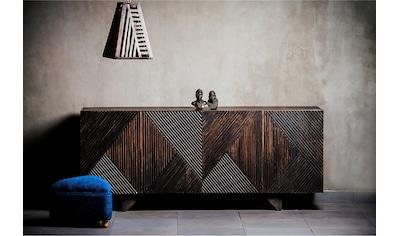 Home affaire Sideboard »Dove«, mit schönen Fräsungen im Schachbrettmuster auf den... kaufen