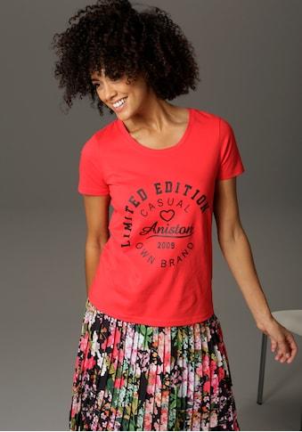 Aniston CASUAL T-Shirt, mit Schriftzug im Vorderteil kaufen