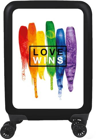 meinTrolley Hartschalen-Trolley »Love wins weiß, 77 cm«, 4 Rollen, Made in Germany kaufen