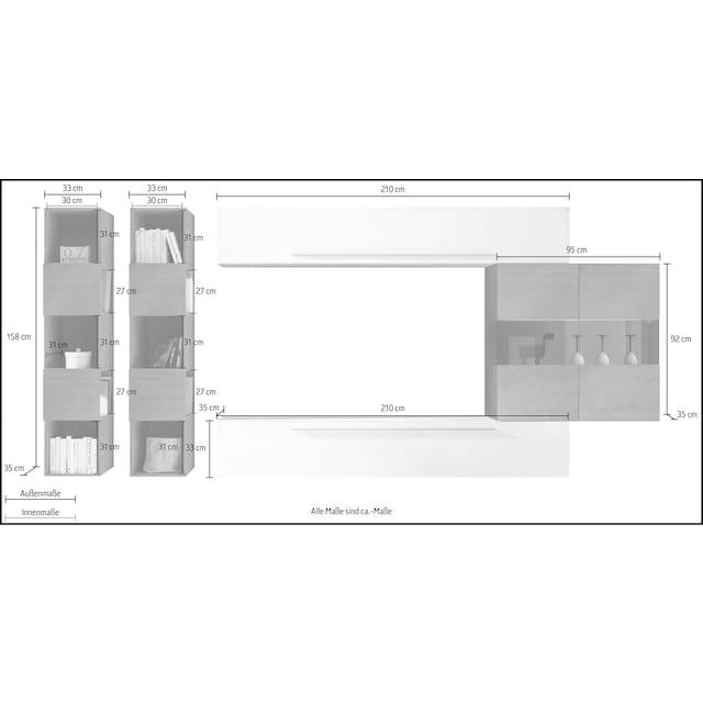 LC Wohnwand »Infinity« (Set, 5-tlg)