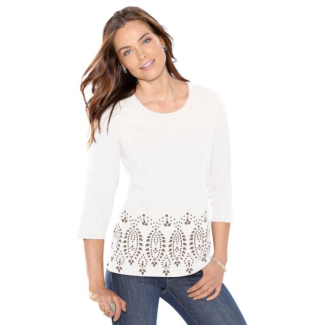 Classic Basics Shirt mit schönem Bordüren-Druck