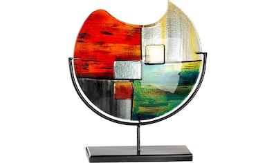 GILDE GLAS art Dekovase »Mirano«, handbemalt mit Fusingglas-Elementen kaufen