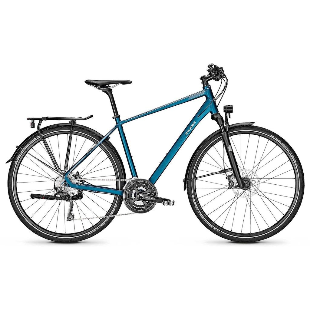 Raleigh Trekkingrad »RUSHHOUR 7.0«, 30 Gang, Shimano, Deore XT Schaltwerk, Kettenschaltung
