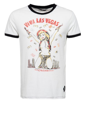 KingKerosin T-Shirt »Viva Las Vegas«, mit Pin Up Print im Vintage Look kaufen