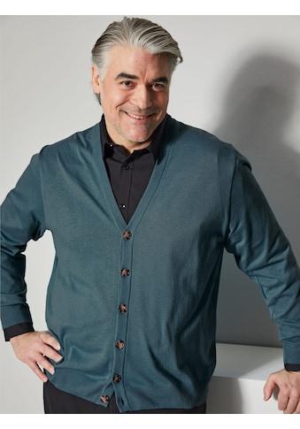 Men Plus Cardigan, aus pflegeleichter Baumwoll-Mischung kaufen