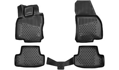 Walser Passform-Fußmatten »XTR«, VW, T-Roc, Geländewagen, (4 St., 2 Vordermatten, 2 Rückmatten), für VW T-Roc BJ 2017 - heute kaufen