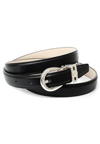Anthoni Crown Ledergürtel, in schmaler Form mit doppelter Metallschlaufe kaufen