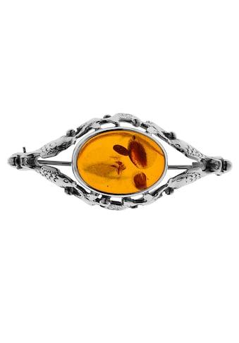 OSTSEE - SCHMUCK Brosche »Fischland 43x18 mm Silber 925/000 Bernstein« kaufen