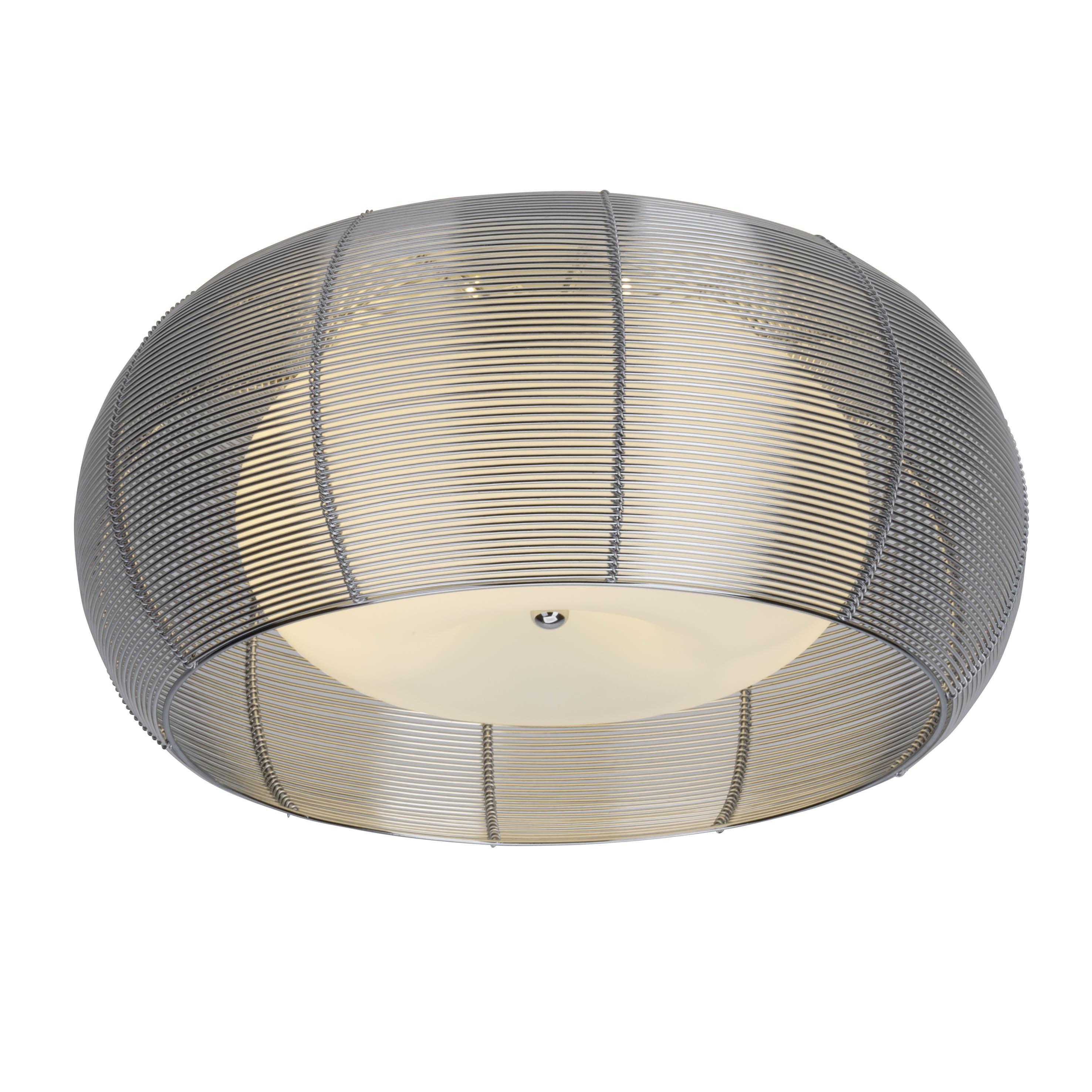 Brilliant Leuchten Relax Deckenleuchte 50cm chrom/weiß