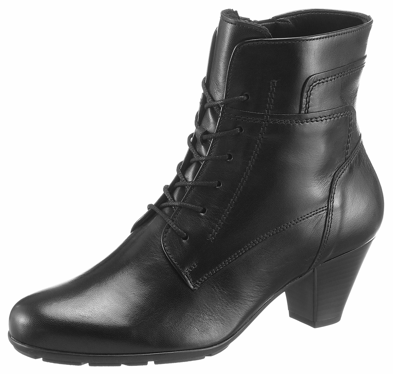 Gabor Schnürstiefelette   Schuhe > Stiefel   Schwarz   Leder   Gabor