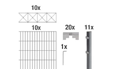 GAH Alberts Doppelstabmattenzaun »Nexus«, anthrazit, 140 cm hoch, 10 Matten für 20 m,... kaufen