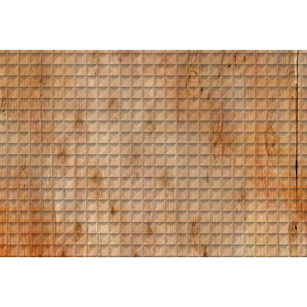 Architects Paper Fototapete »Atelier 47 Square Wood 2«, Holz