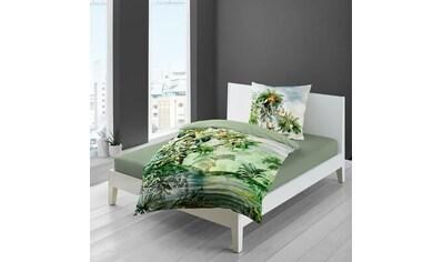 TRAUMSCHLAF Bettwäsche »Wildflowers«, exotisches Design auf Mako-Satin Qualität kaufen