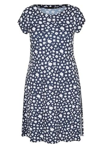 Thomas Rabe Kleid mit Allover-Print und Galonstreifen kaufen