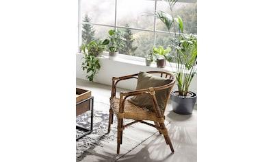 SIT Sessel, aus recyceltem Holz und Rattan kaufen