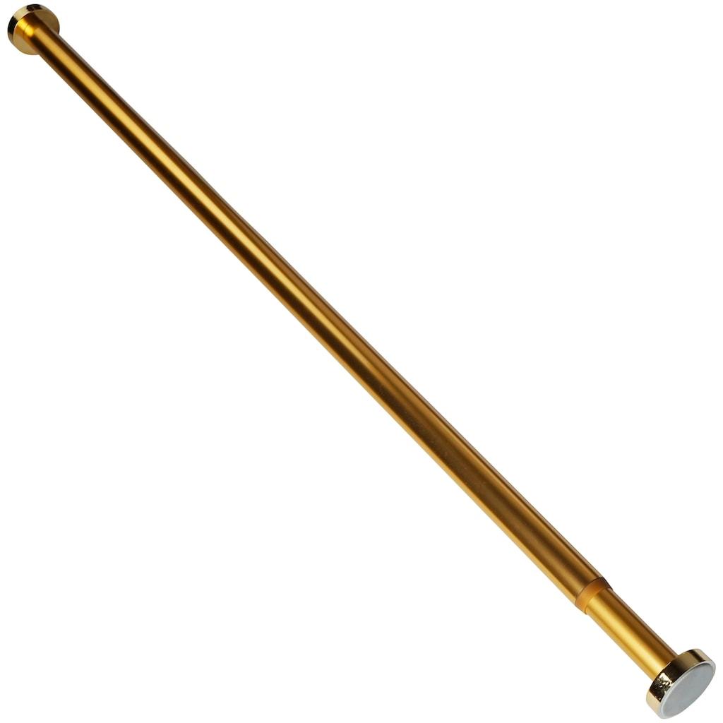 Sanilo Klemmstange »Gold«, ausziehbar, ausziehbar, für Duschvorhänge, Duschvorhangstange gold der Länge 90-170cm