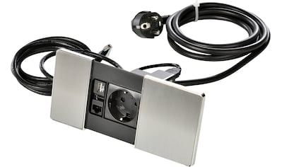 Kopp Einbau-Tischsteckdose »VersaPad edelstahl«, (Kabellänge 2 m), 1 Steckdose mit USB... kaufen