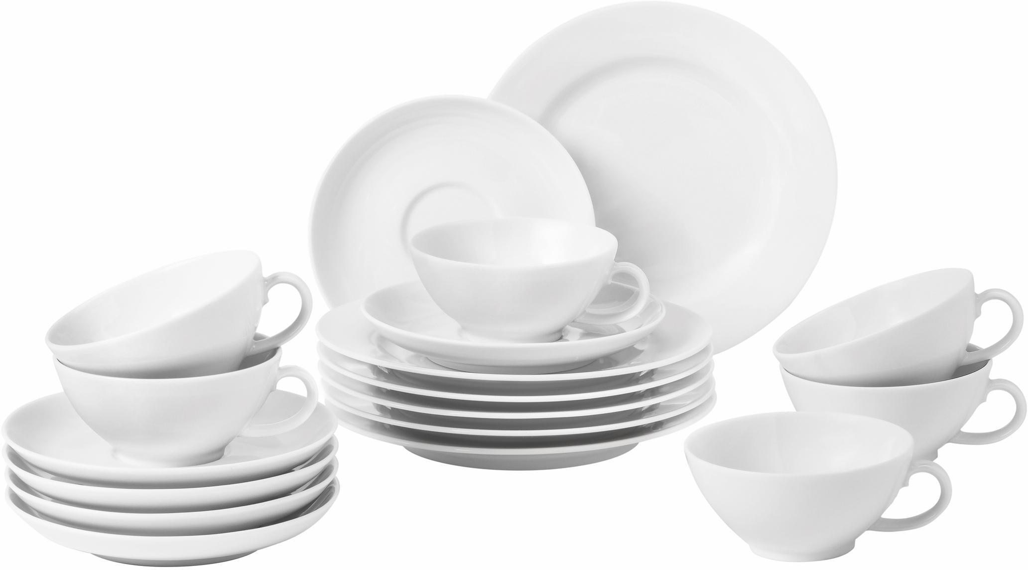 Seltmann Weiden Teeservice Rondo, (Set, 18 tlg.) weiß Geschirr-Sets Geschirr, Porzellan Tischaccessoires Haushaltswaren