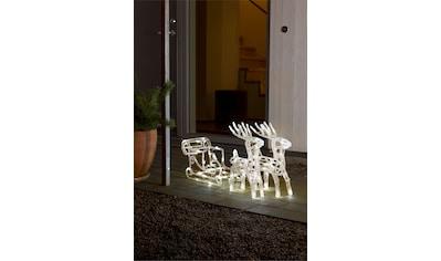 """KONSTSMIDE LED-Dekofigur, LED Acryl-Set """"Schlitten mit 2 Rentieren"""", 96 warm weiße Dioden kaufen"""