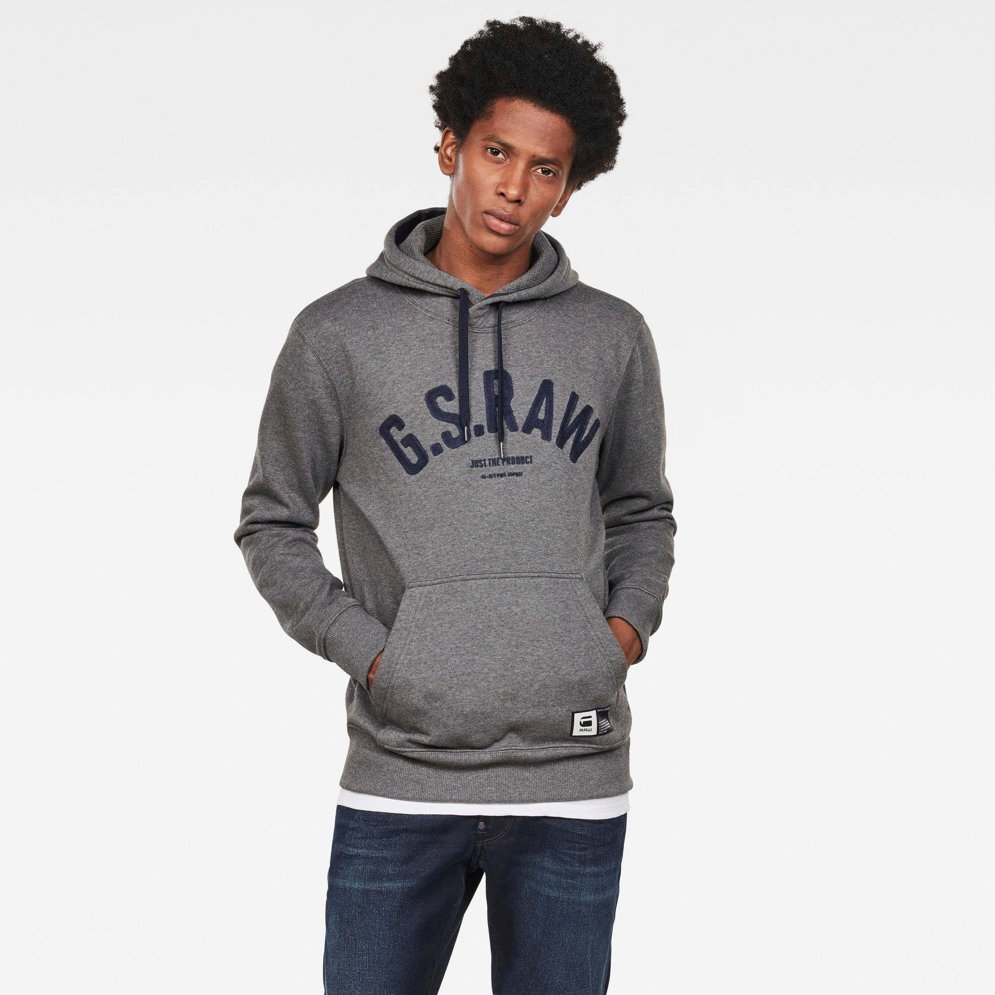 G-Star RAW Kapuzensweatshirt Graphic 14 core | Bekleidung > Sweatshirts & -jacken > Sweatshirts | Grau | G-Star Raw