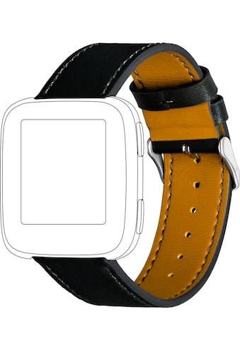 topp Accessoires Ersatz - /Wechselarmband »Leder mit Ziernaht für Fitbit Versa« kaufen