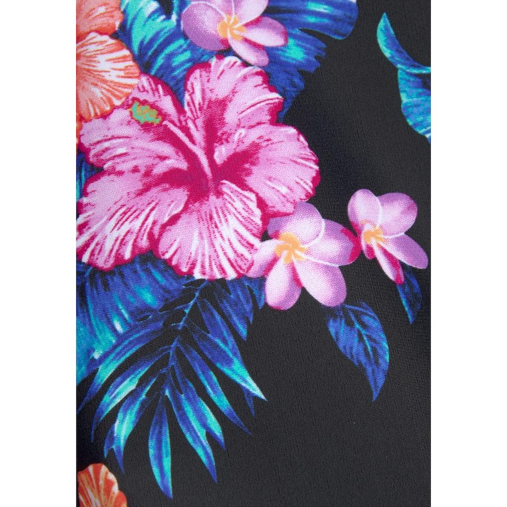 LASCANA Bade-Shirt, mit tropischem Print