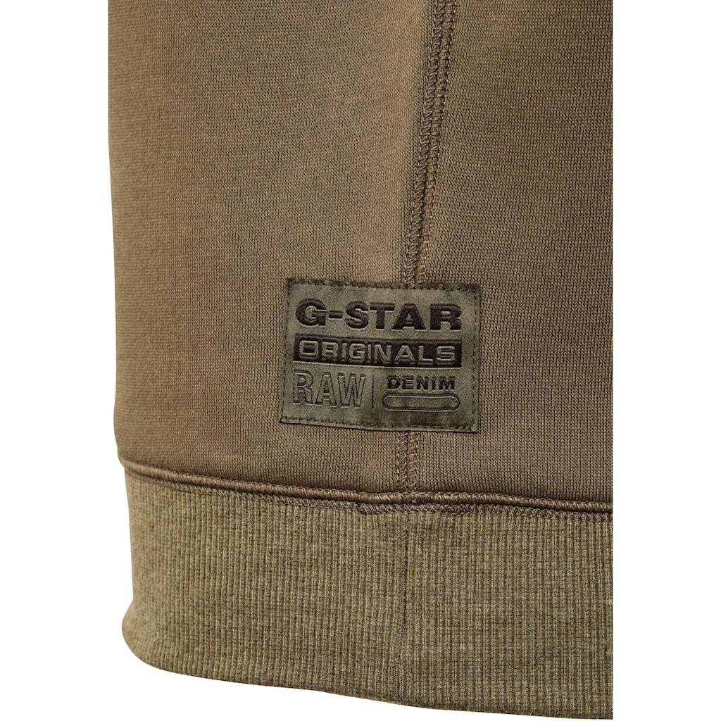 G-Star RAW Sweatshirt »Premium Core Sweatshirt«, mit gerippten Rundhalsausschnitt und dreieckigen Einsatz