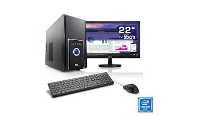 "CSL Office PC Set   Intel J1900   8 GB RAM   22"" TFT »Speed T1824 Windows 10 Home« kaufen"